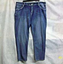 @ASPEC VIGOLD WOMEN's EMBELLISHED STRETCH SKINNY BLUE JEANS PLUS PANTS - SIZE 24