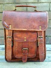 New Women Real Vintage Brown Leather Messenger Cross Body Bag Handmade Purse