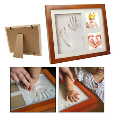 Luxury Baby Foot / Hand Print Clay Kit Wood Photo Frame Ornament Gift