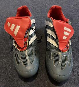 adidas Predator Precision FG - Blue Grey/White/Collegiate Red - UK Size 10.5