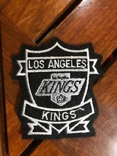 "VINTAGE NHL LOS ANGELES KINGS IRON ON PATCH 3"" x 3 1/4"""