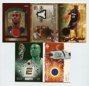 Lot of (5) Gary Payton Jersey Relic Cards Fleer Ultra Upper Deck AG727