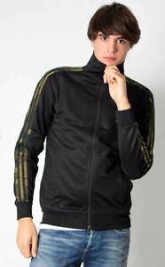 Adidas Originals Camo Track Top in Black  Firebird tracksuit jacket FM3363