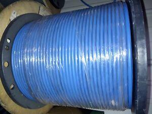 Commscope Cat 6A U/UTP Cable, plenum, blue jacket, 4 pair count, 1000ft