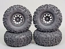 2.2  Truck Rims Wheels Rock CRAWLER  Beadlock Wheels  -Set Of 4- Black