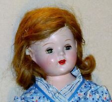 VINTAGE 16INCH composition DOLL w/OPEN MOUTH TEETH/sleep eyes good condition