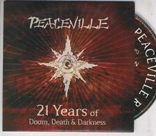 PEACEVILLE 21 Years PROMO CD Opeth Anethema My Dying Bride Paradise Lost Doom