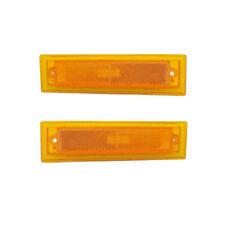Side Marker Lights Reflectors Pair Set for 81-91 Chevy Blazar (Full Size)