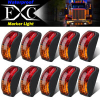 10X 2 LED Red/Amber Side Marker Lights Lamp Trailer Truck Lorry Caravan Van 12V