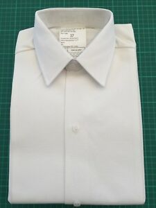 MAN'S RAF ROYAL NAVY RM OFFICERS WHITE MARCELLA FRONT DRESS SHIRT - Sizes , NEW