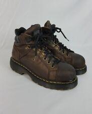 Dr Martens DM's Industrial Steel Toe Brown Leather Work Boots DM108 Mens Size 7