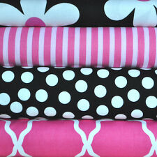 Fuschia Li'l Plain Jane 4 Fabric Fat Quarters for Michael Miller, 1 yard total