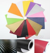 1 Set Samples - Car 3D Carbon Fiber Vinyl Wrap Sticker Film 14 Colors 8cm x 12cm
