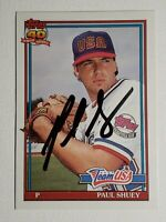 1991 Topps Traded Paul Shuey RC USA Auto Autograph Card Indians Signed #108T