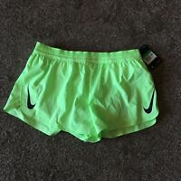 "NEW Mens NIKE AEROSWIFT 5"" RUNNING Racing SHORTS AQ5302 315 XL Lime Green"