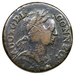 1785 5-F.5 R-4 Connecticut Colonial Copper Coin