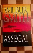 Wilbur Smith Assegai Hardback Book 2009 LARGE PRINT