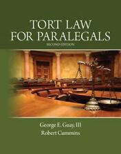 Tort Law for Paralegals by Guay & Cummins ISBN 978013306794