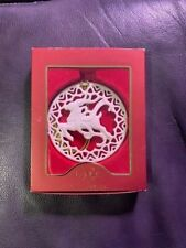 Lenox 24 karat gold accented Reindeer Ornament w/gold tassel cord