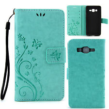 Magnetic Flip Painted Strap Leather Card Slots Stand Case For Samsung