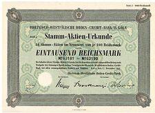 Rheinisch Westfälische Boden Credit Bank in Köln  1941   ungelocht