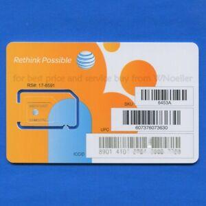 UNACTIVATED AT&T Universal nano/micro/mini • 4G LTE & 5G • Prepaid & Postpaid