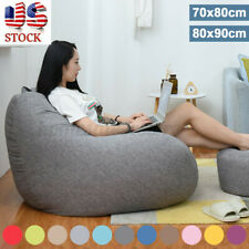 Us Large Bean Bag Chairs Couch Sofa Cover Indoor Lazy Lounger Adults Kids Indoor