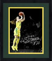 "Framed Sabrina Ionescu Oregon Ducks Autographed 11"" X 14"" Spotlight Photograph"