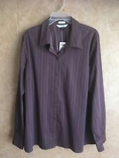 NWT OLD NAVY Size XXL or 2XL Womens STRETCH BLOUSE SHIRT TOP, LONG SLEEVE, BROWN