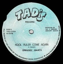 "GREGORY ISAACS-kool ruler come again   tad's 12""   (hear)  reggae"