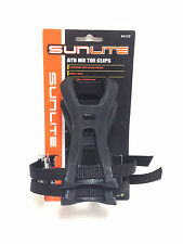 SUNLITE MEDIUM TOE CLIPS w/ Straps - ATB Hybrid Bike Bicycle Cycling NEW