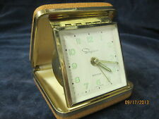 Vintage Ingraham travel alarm Clock Germany