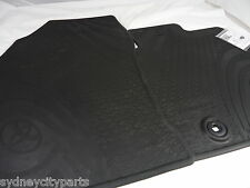 TOYOTA COROLLA FLOOR MATS FRONT RUBBER HATCH AUG 12 - JUNE 18 NEW GENUINE