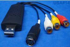usa seller. USB RCA EASY CAP AUDIO VIDEO CAPTURE ADAPTER AV RECORDER TV DVD VHS