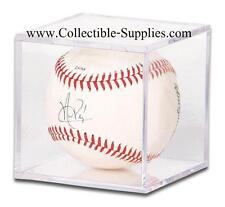 4 Baseball Ball Square Display Cube Cases w/ No Cradle