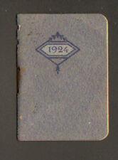 PARIS (VIII°) CALENDRIER Agenda mensuel de poche 1924 / PHARMACIE DESCHIENS