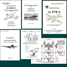 GERMANIA WWII LUFTWAFFE RACCOLTA  MANUALI  AERONAUTICA IN PDF scavo fascio
