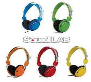 SoundLAB Colour Fashion Stylish Multi Purpose Stereo Ear Cup Headphones