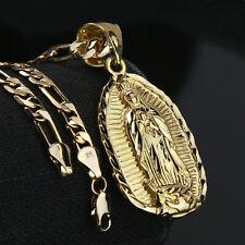 Guadalupe Width 14k Gold PT Charm Pendant 5mm 24
