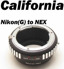 Nikon G Mount to Sony E Adapter AF S F AIS AI Lens to NEX 3 NEX 5 7 5N VG Camera