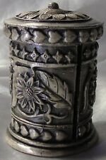 More details for metal/ pewter stamp dispenser with sunflower design