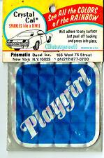 Vintage Prismatic sticker 70's Blue Playgirl Feminist Sexy Retro Van Hot Rod