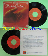 LP 45 7'' ARNOLDO FOA' Poesie in controluce PREVERT italy FONIT CETRA no cd mc *