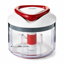 Zyliss Easypull Manual Food Processor, 750 Ml-White/Grey/Red
