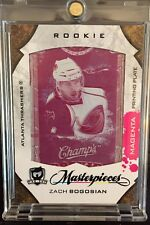 2008-2009 UD THE CUP Zach Bogosian PRINTING (Print) PLATE ROOKIE RC 1/1