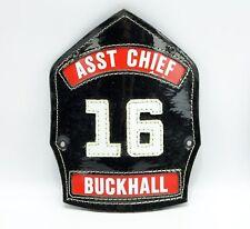 Buckhall Virginia Asst Chief #16 Fire Department Cairns Helmet Badge