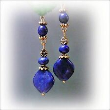 Alloy Lapis Handcrafted Earrings
