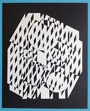 Victor VASARELY V Offset Originale de 1973 Op Art Optique Cinétique 44ans