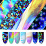 10 Pcs 2.5*100cm Holographic Nail Foil Sticker Set Transparent AB Color Transfer