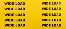 OVERSIZE LOAD - WATERSLIDE DECAL SHEET OF 10 - Suit 1:50 Scale
